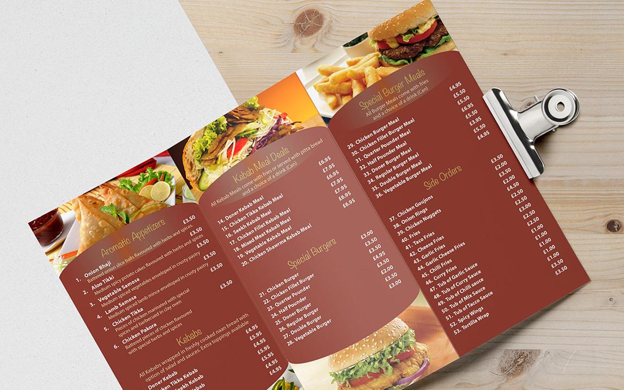 folded menu eps ltd ecclesville printing services